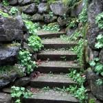 urige Außentreppe