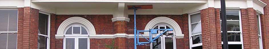stützen auf balkon